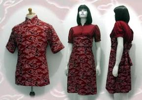 model baju batik pria wanita