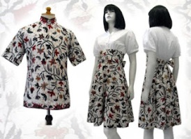 model baju batik pekalongan