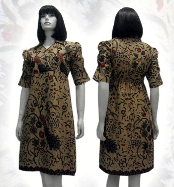 Model Long Dress Batik Modern Remaja Holidays Oo