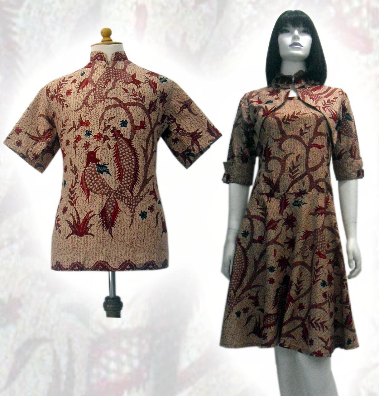 10 Model Baju Batik Sarimbit Modern Terbaru 2018: Model Baju Batik Modern Wanita
